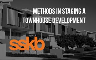 Methods in Staginf a townhouse development