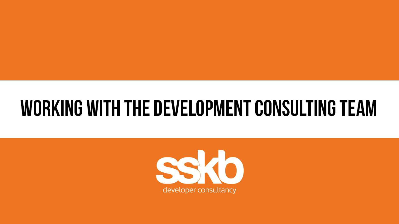 Working with the development consulting team
